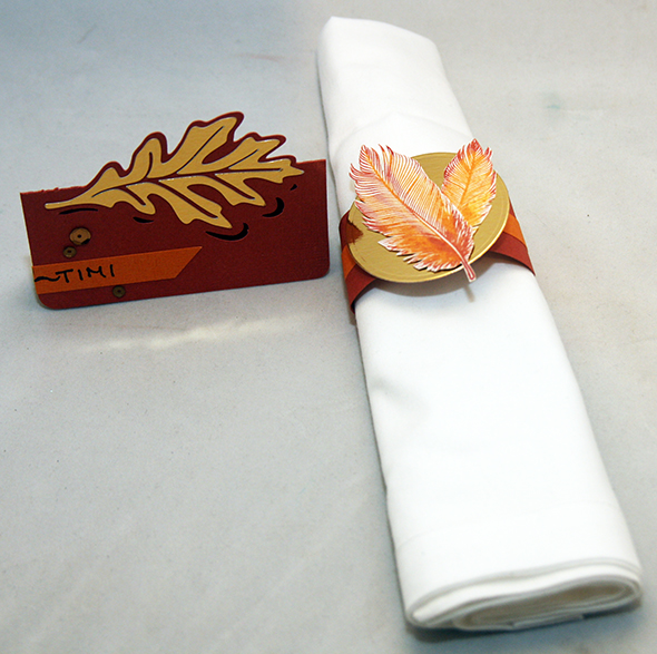place setting and napkin
